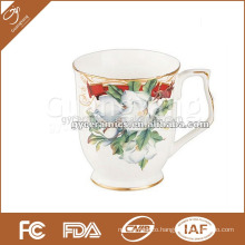 10oz coffee and tea mug with beautiful flower