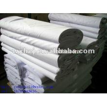 Tela lisa do poliéster do algodão 50% do Weave 50% para a folha de cama do hotel