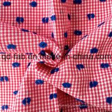 100% Jacquard teintée de fil de coton (QF13-0755)