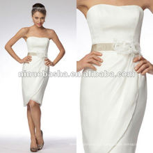 Vestido de noiva sem alças com cetim de cetim