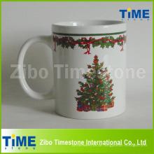 Steingut-Weihnachtskaffeetasse