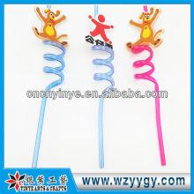 2D promotional pvc hard plastic straw