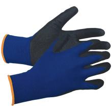 Gants enduits de nylon de calibre 13 de coquille de polyester de nitrile gant de poignée de sable