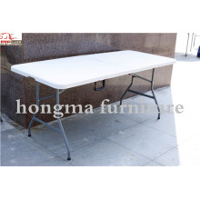 Пластиковый складной прямоугольный стол 6100 для банкета, пикника, вечеринки