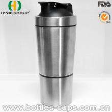 Botella de proteína de agitación de acero inoxidable 700ml (HDP-0598)