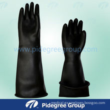Black High Risk Gloves Beaded Cuff For Heavy Duty Industrial