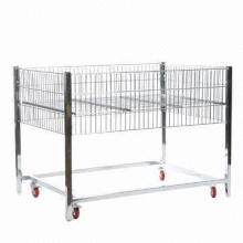 Supermarket Promotion Wire Table with Casters