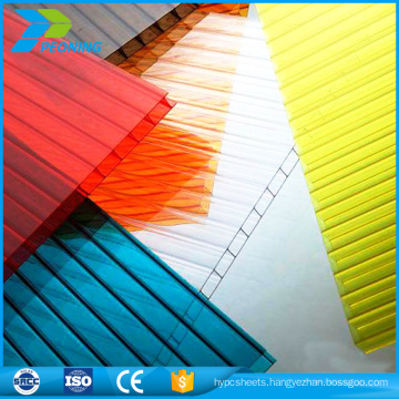 UV sun light polycarbonate greenhouse siding pc honeycomb clear roofing sheets
