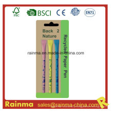 Color Paper Ball Pen with Nice Design