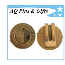 Clip métier en argent professionnel en métal antique (Golf-24)