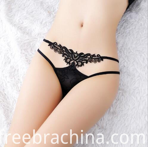 black women lace t panty