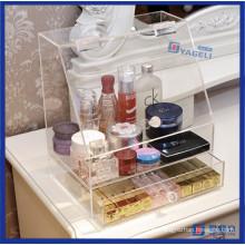 Organizador moderno del maquillaje del acrílico del almacenaje casero