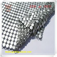 Malla de cortina decorativa / metálica de plata para la construcción (ISO)