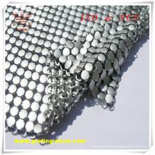 Maille décorative argentée de rideau en métal pour la construction (OIN)
