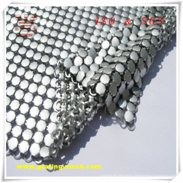 Silver Decorative/ Metal Curtain Mesh for Building (ISO)