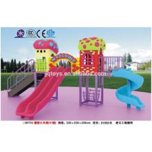 B0708 móveis de jardim de infância Cogumelo ao ar livre Estrutura de jogo para crianças kids outdoor play slide parque de diversões