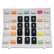 Goma de silicona doble color del teclado