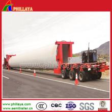 Remorque hydraulique de transport de poutre d'axes rotatoires