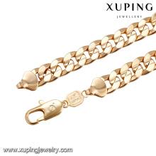 43660 homens de design de moda simples colar de corrente de ouro 18 k liga de cobre colar de jóias