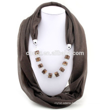 PK17ST299 China supplier stripe zebra knitted scarf pendant