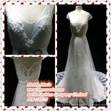 2016 Design Ebay Wedding Dresses Fabric Lace Backless V Neckline Wedding Gown BYB-14575