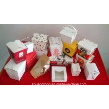 Caja de papel / caja de snack / caja de sándwich / caja de fideos