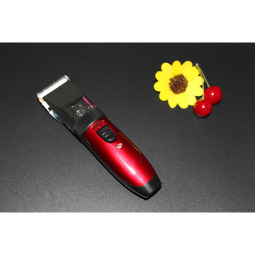 Cordless Red Electric Rechargeable Hair Clippers