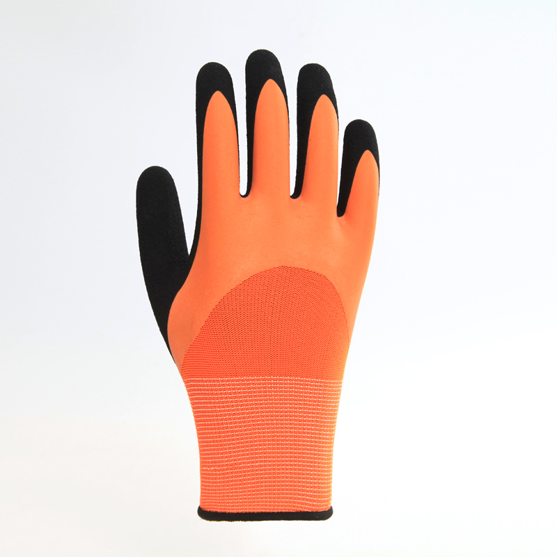 Breathable Latex Glove Latex Coated Working Gloves