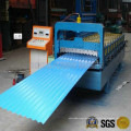 Máquina para fabricar láminas de metal para techos