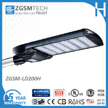 IP66 200W LED Parking Lot Light with Ce UL Approved