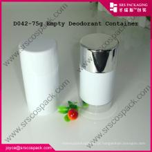 Round pp Plastic Cosmetic Containers E 30g 50g 75g desodorante recipiente fundo de enchimento