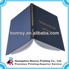 Capa de capa de capa dura capa encadernada serviço de impressão notebook