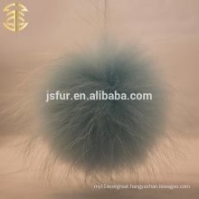 Stylish Top Baby Blue Pom Poms Genuine Raccoon Fur Ball Wholesale 14-15cm Large Fluffy Fur Pompons Ball