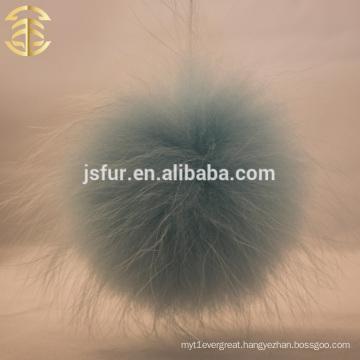 Stylish Top Baby Blue Pom Poms Genuine Raccoon Fur Ball Wholesale 14-15cm Large Fluffy Fur Pompons Ball