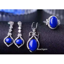 Fashion Natural Lapis Jewellery Set (S2658)