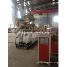 PA/PE/PP/PVC single wall corrugated pipe extrusion line