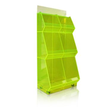 Soportes de exhibición de acrílico transparentes, unidad de la exhibición del supermercado, Foods Dumpbins