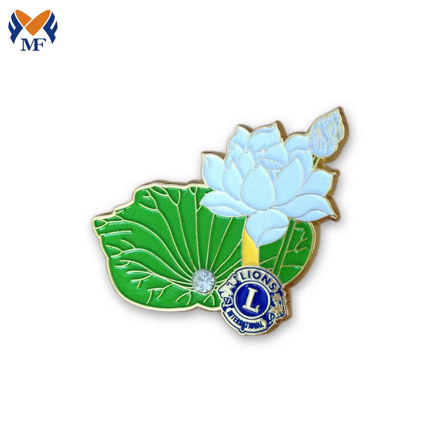 Flower Badge Pin