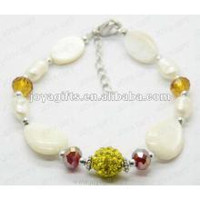 Art und Weise 2012 Joya weiße Perlen-Schale bördelte Fußkettchen