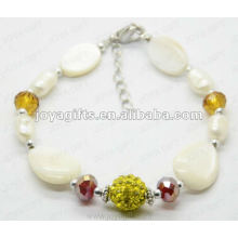 Fashion 2012 Joya White Pearl Shell Beaded Anklet