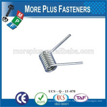 Made IN TAIWAN high qualiy metal spring stainless steel spring torsion spring