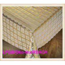 Mantel de oro del cordón del PVC en la venta caliente del rollo (JFBD-003)