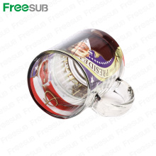 FreeSub 11OZ Sublimation Druck Bild Glas Tassen