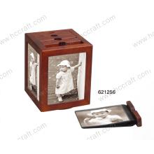 Caixas de álbum de fotos de madeira para presentes