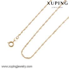 43264 -Xuping Fine longo cadeia de jóias colar de mulheres