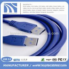 Alta qualidade Azul USB 3.0 macho para macho cabo PC e Mac compatível