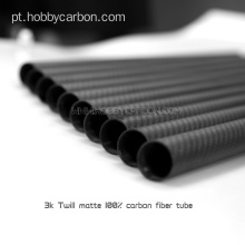 Tubo completo da fibra do carbono de 15X12mm 3K para Multicopter
