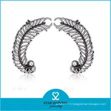 Boucle d'oreille de mode élégante en argent et bijoux CZ (E-0257)