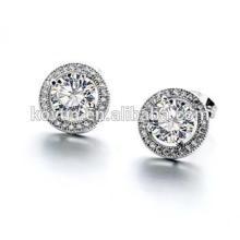 Оптовые серебряные ювелирные изделия равнина стерлингового серебра 925 круглые серьги стержня стержня