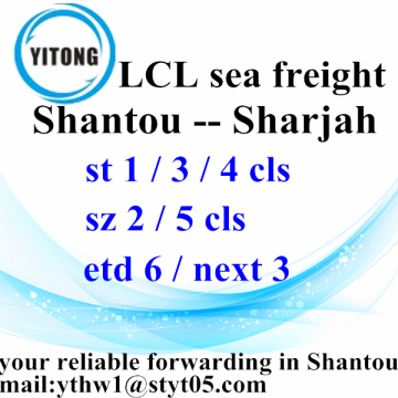 Shantou International Shipping Services naar Sharjah